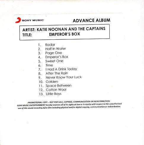 Katie Noonan And The Captains - Emperor's Box (Advance Copy)